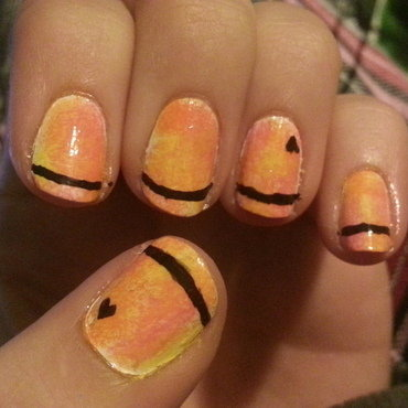 Sunset love nail art by Brittany Wanner
