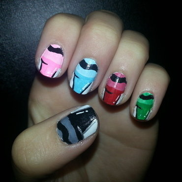 Crayon nail art by Brittany Wanner