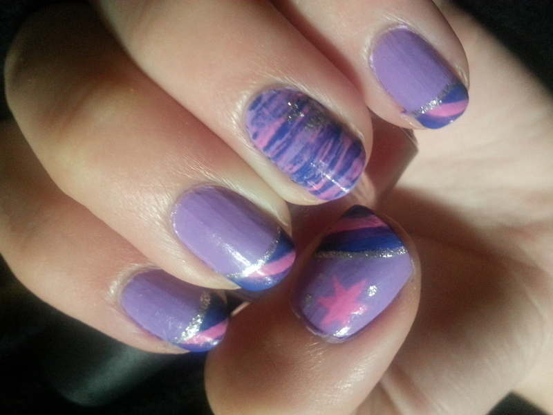 Twilight Sparkle nail art by Brittany Wanner