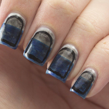 To Weather The Storm nail art by Marisa  Cavanaugh