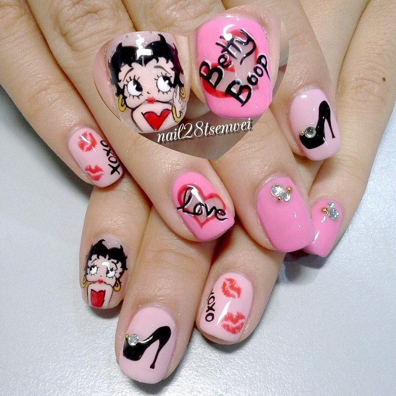 Betty boop nail art by Weiwei