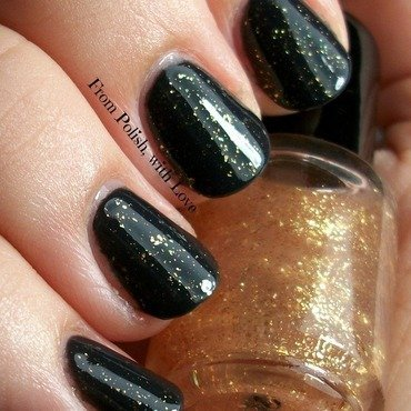 Pretty   polished golden child topcoat swatch cult nails blackout thumb370f