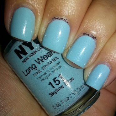 NYC Skyline Blue Swatch by kEElyN mARiN