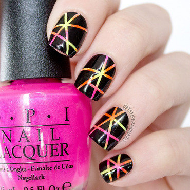 OPI neons 2014 nail art by Temperani Nails