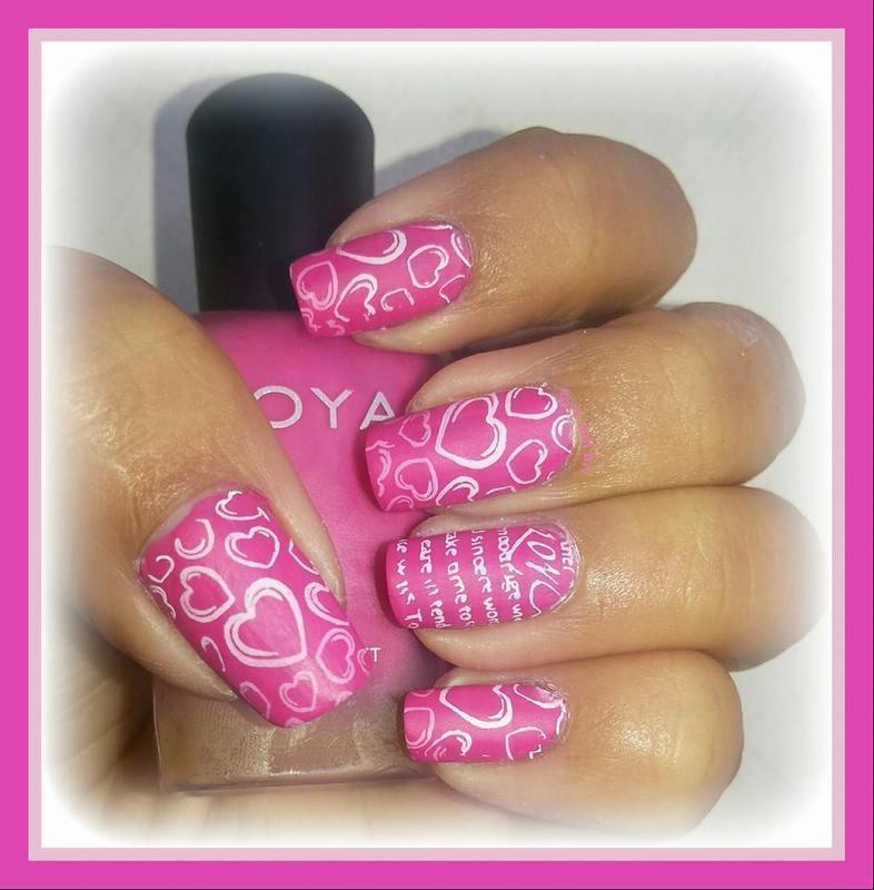 matte love.. nail art by Uma mathur