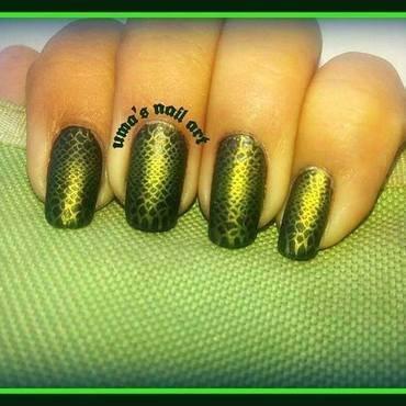 snake skin nail art by Uma mathur