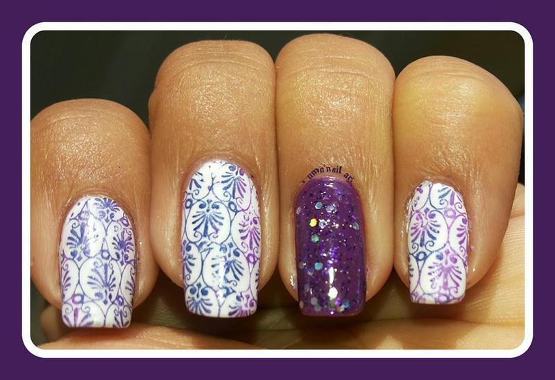 fabric desigen nail art by Uma mathur