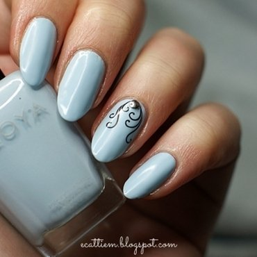 Elegant Blu nail art by ecattiem