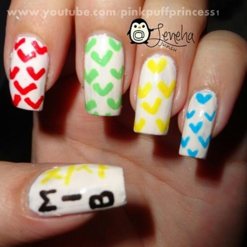 Kpop Nail Art: M.I.B's Chisa Bounce nail art by Leneha Junsu