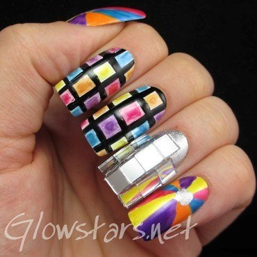 The Digit-al Dozen Does Decades: 1970s nail art by Vic 'Glowstars' Pires