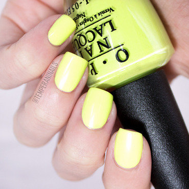 OPI Life Gave Me Lemons Swatch by Temperani Nails