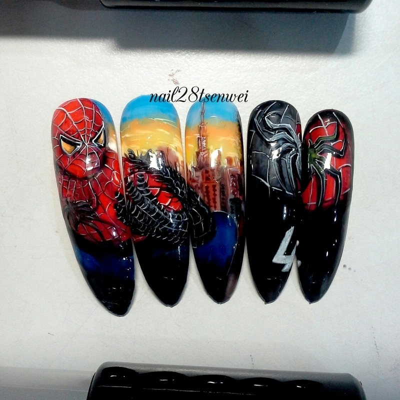 Spiderman nail art by weiwei nailpolis museum of nail art spiderman nail art by weiwei prinsesfo Choice Image