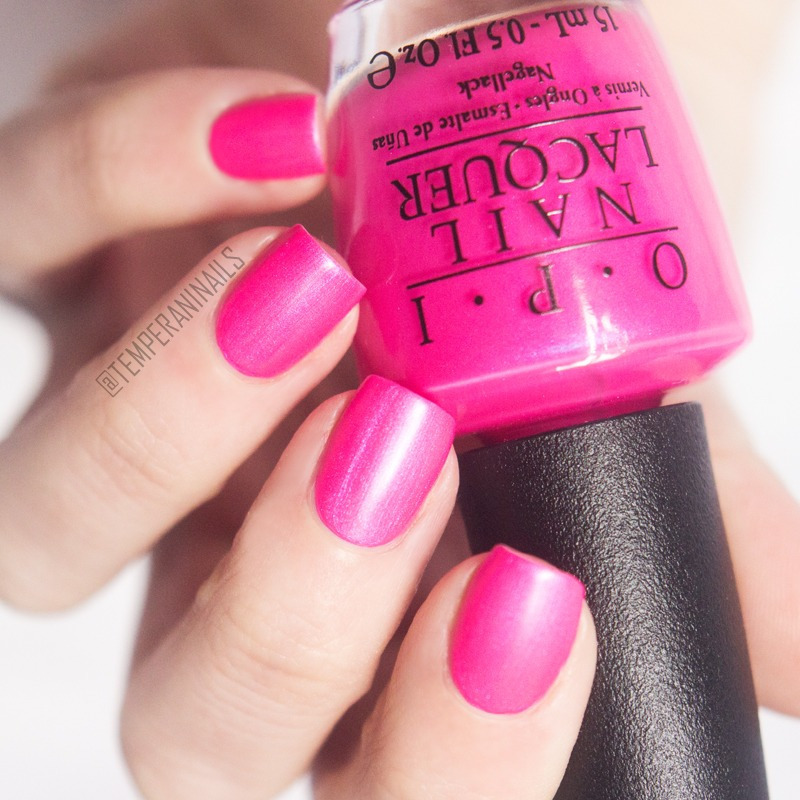 OPI Hotter Than You Pink Swatch by Temperani Nails
