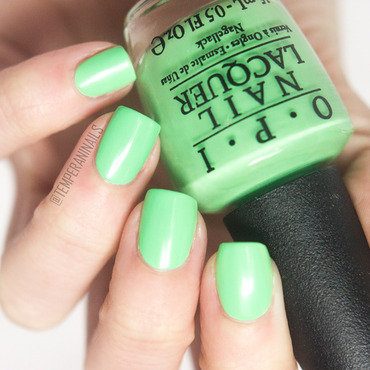 OPI You Are So Outta Lime Swatch by Temperani Nails