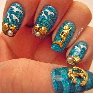 """Life's A Beach"" nail art by Karolyn"