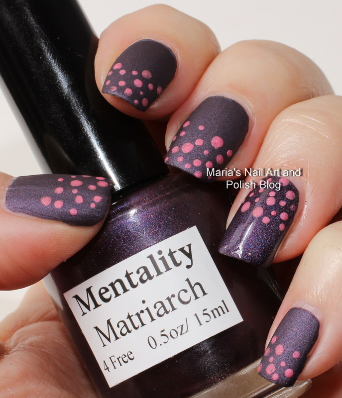 "The Matriarch and the dotty Empress nail art by Maria ""Maria's Nail Art and Polish Blog"""
