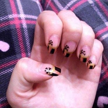 Lady Pirate nail art by Toria Mason