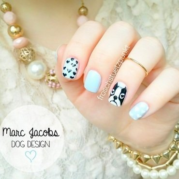 Marc Jacobs Dog Design nail art by froschstuetzpunkt