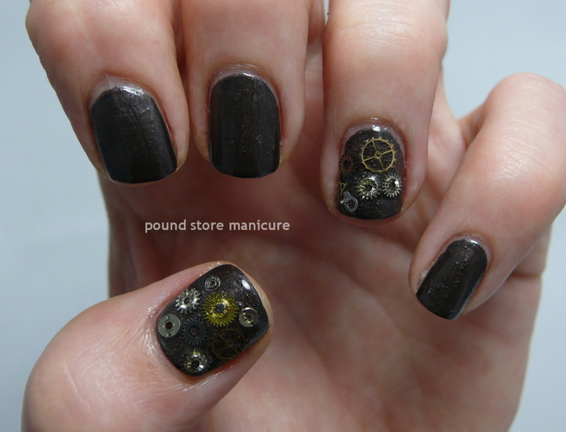 Industrial Revolution nail art by Pound Store Manicure