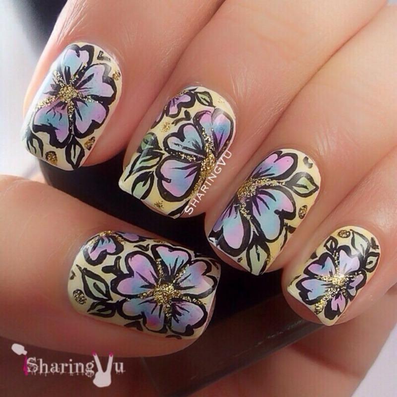 🌸🍃Floral Design 🍃🌸 nail art by SharingVu
