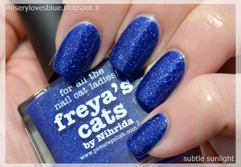 piCture pOlish Freya's Cats Swatch by MiseryLovesBlue