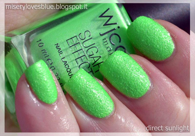 wjcon SugarEffect Fluo 834 Swatch by MiseryLovesBlue
