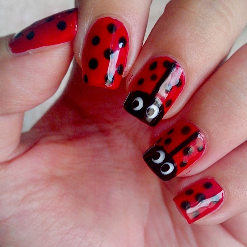 Lady Bug nail art by Judy Ann Chio