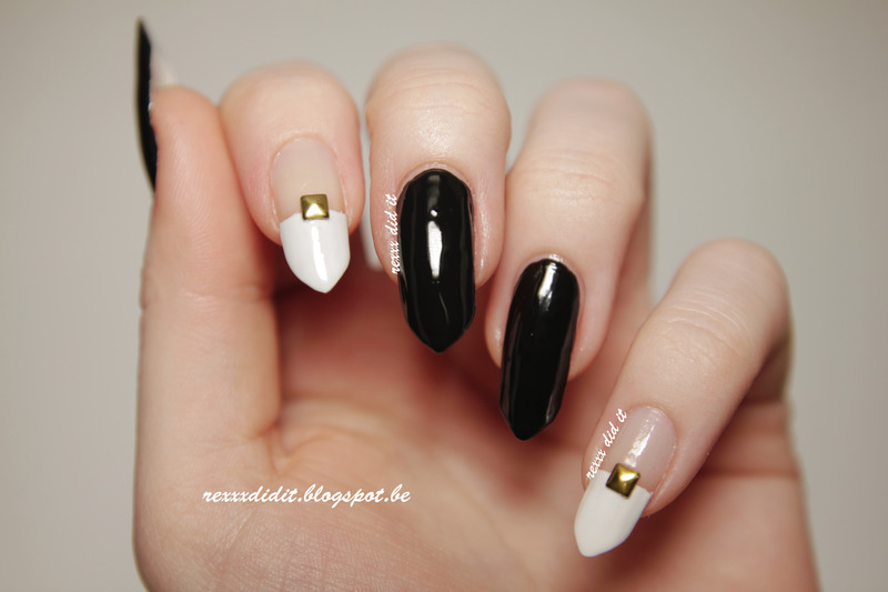 Let's go Monochrome! nail art by Robin