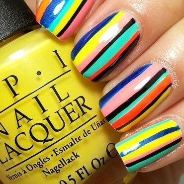 Stripes! nail art by thenailguide