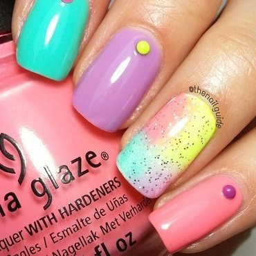 Pastel Studded-Ombré nail art by thenailguide