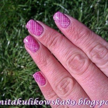 Stamping nail art  nail art by Anita
