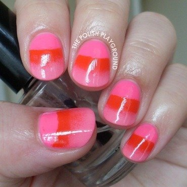 Pink half moon gradient nail art thumb370f