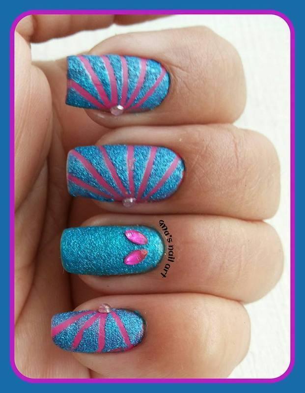 tape nails... nail art by Uma mathur