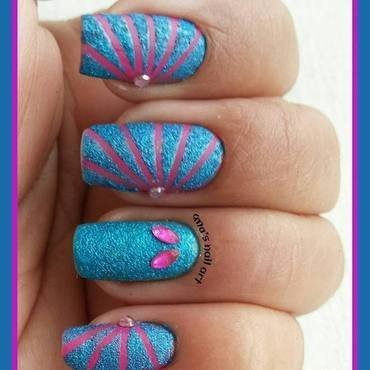 tape nails... nail art by Uma mathur