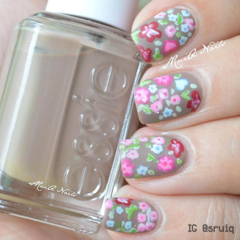 April Showers Bring May Flowers nail art by Sarah