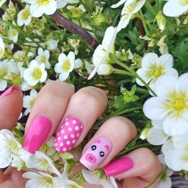 piggie nail art  nail art by tesaw