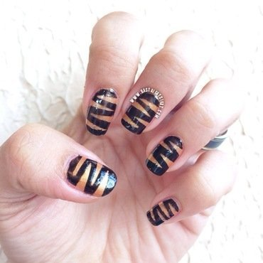 peanut butter and choco nail art by Maria Franco
