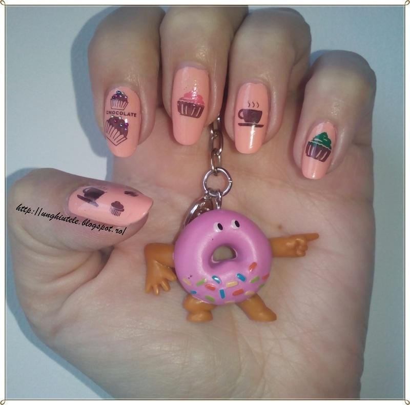 Coffe&Cupcake nail art by Oana  Alexandru