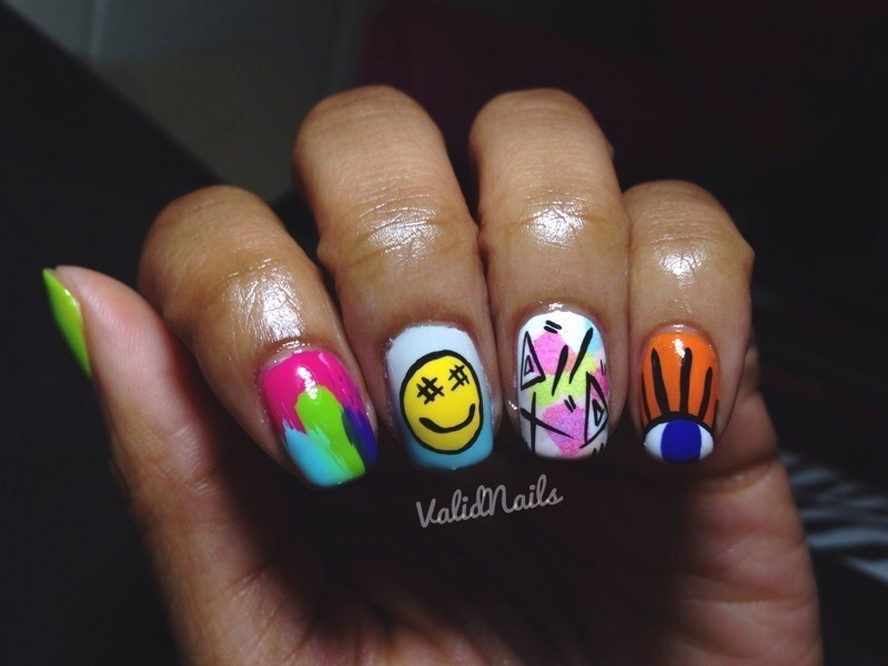 Mix Up nail art by Chantay