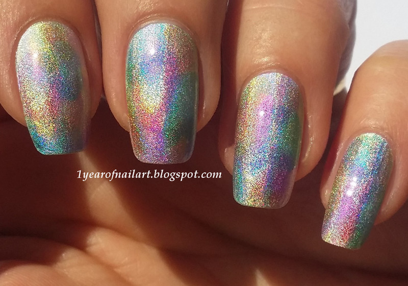 Holo watercolor nail art nail art by Margriet Sijperda