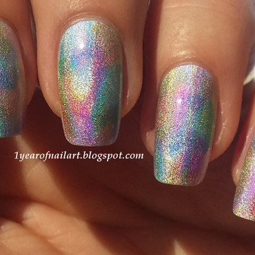 Holo watercolor nail art thumb370f
