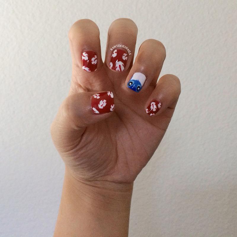 Nail Art Stitch: Lilo & Stitch Nails Nail Art By Ramy Ang