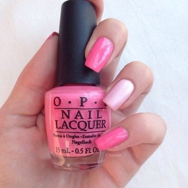 OPI Kiss Me I'm Brazilian and P2 Queenly Rose Swatch by tesaw