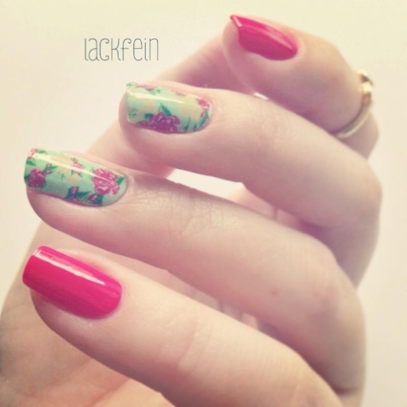 Floral nail art by lackfein