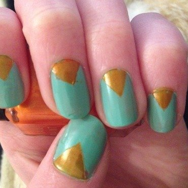 Triangles nail art by Kelly Greenwood