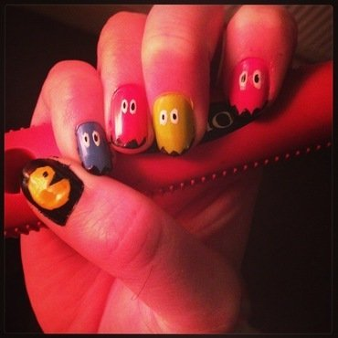 PacMan nail art by Kelly Greenwood