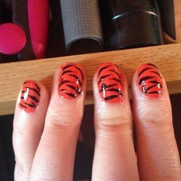 Tiger Nails nail art by Kelly Greenwood