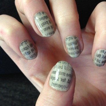 Paper Nails nail art by Kelly Greenwood