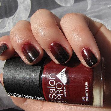 Vamp style gradient nail art by Sky Blue Velvet Nails