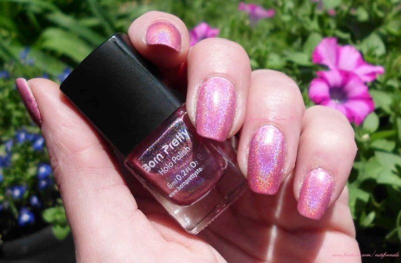 born pretty store Pink holo #2 Swatch by Angelique Adams